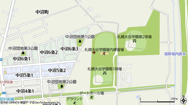 〒007-0890 北海道札幌市東区中沼町の地図