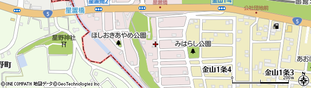 北海道札幌市手稲区星置南周辺の地図