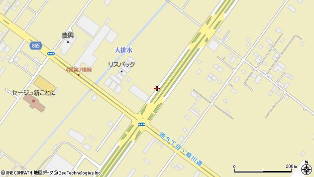 〒001-0915 北海道札幌市北区新琴似町の地図