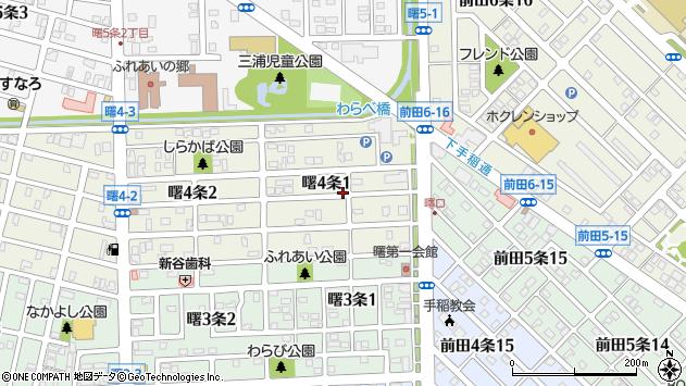 〒006-0834 北海道札幌市手稲区曙四条の地図