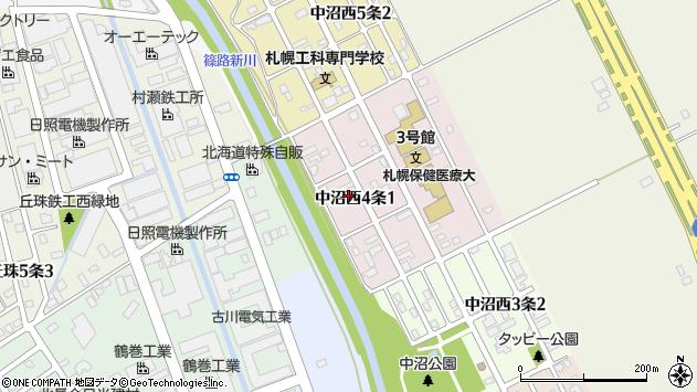 〒007-0894 北海道札幌市東区中沼西四条の地図
