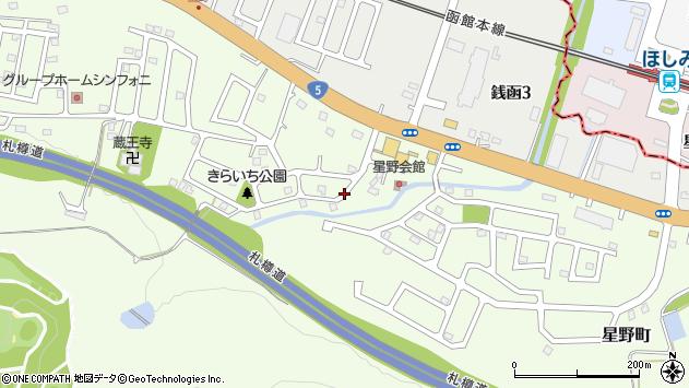〒047-0262 北海道小樽市星野町の地図