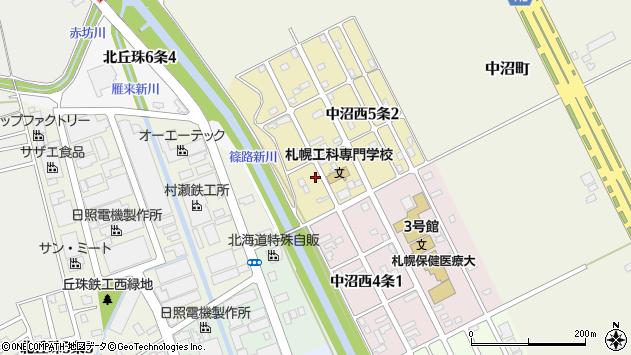 〒007-0895 北海道札幌市東区中沼西五条の地図