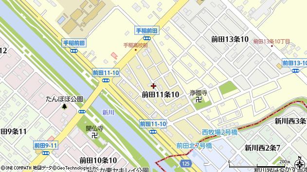 〒006-0821 北海道札幌市手稲区前田十一条の地図