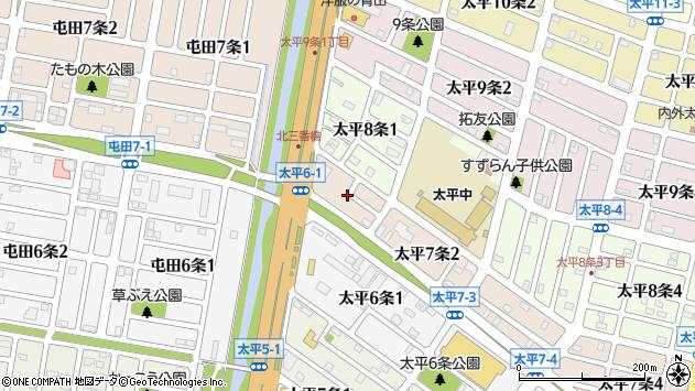 〒002-8007 北海道札幌市北区太平七条の地図