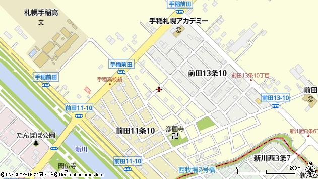 〒006-0822 北海道札幌市手稲区前田十二条の地図