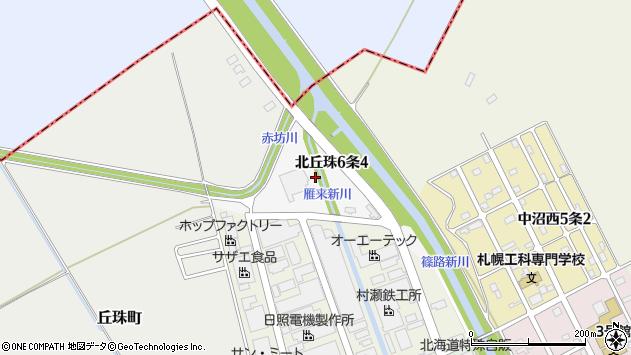 〒007-0886 北海道札幌市東区北丘珠六条の地図