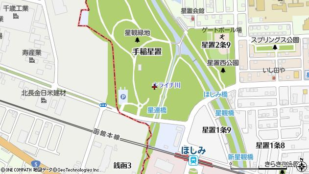 〒006-0859 北海道札幌市手稲区手稲星置の地図