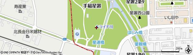 北海道札幌市手稲区手稲星置周辺の地図