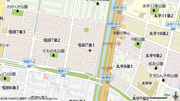 〒002-0857 北海道札幌市北区屯田七条の地図