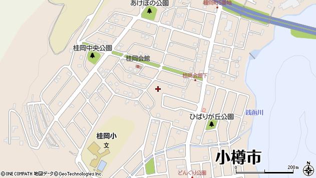 〒047-0264 北海道小樽市桂岡町の地図