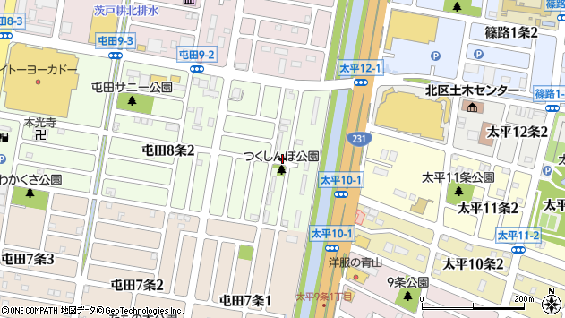 〒002-0858 北海道札幌市北区屯田八条の地図
