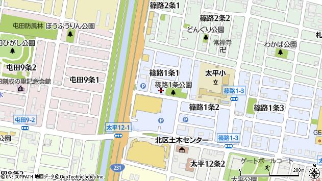 〒002-8021 北海道札幌市北区篠路一条の地図