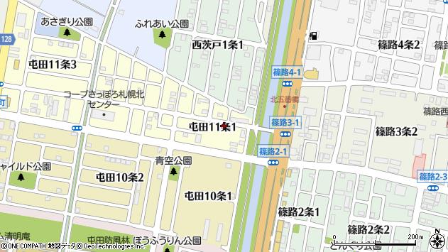 〒002-0861 北海道札幌市北区屯田十一条の地図