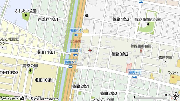 〒002-8023 北海道札幌市北区篠路三条の地図