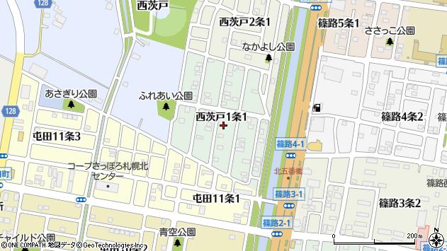 〒002-8031 北海道札幌市北区西茨戸一条の地図