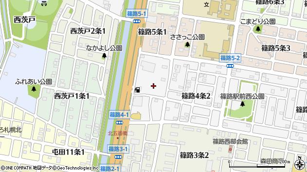 〒002-8024 北海道札幌市北区篠路四条の地図
