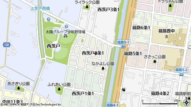 〒002-8032 北海道札幌市北区西茨戸二条の地図