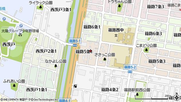 〒002-8025 北海道札幌市北区篠路五条の地図