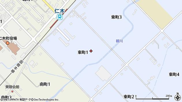〒048-2411 北海道余市郡仁木町東町の地図