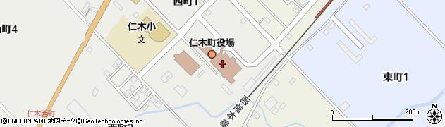 仁木町役場 仁木町地域包括支援センター周辺の地図