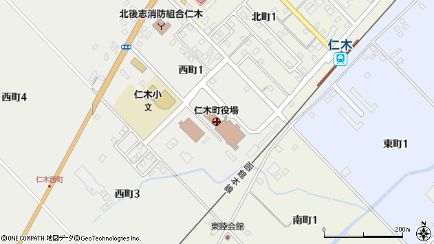 〒048-2400 北海道余市郡仁木町(以下に掲載がない場合)の地図