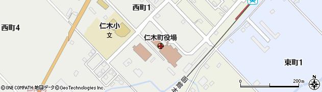 北海道余市郡仁木町周辺の地図