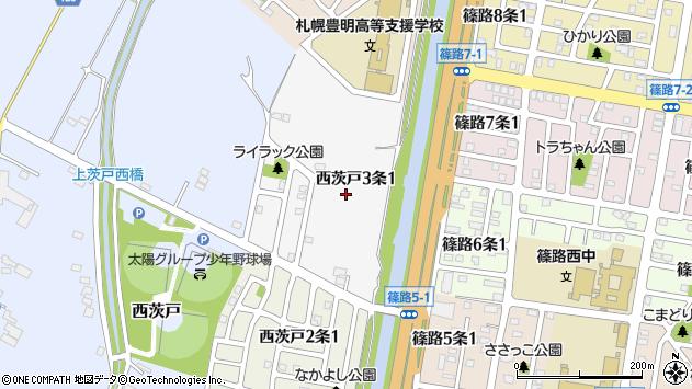 〒002-8033 北海道札幌市北区西茨戸三条の地図