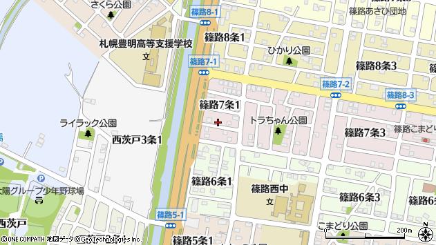 〒002-8027 北海道札幌市北区篠路七条の地図