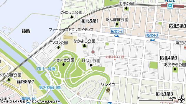 〒002-8064 北海道札幌市北区拓北四条の地図