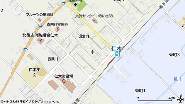 〒048-2405 北海道余市郡仁木町北町の地図