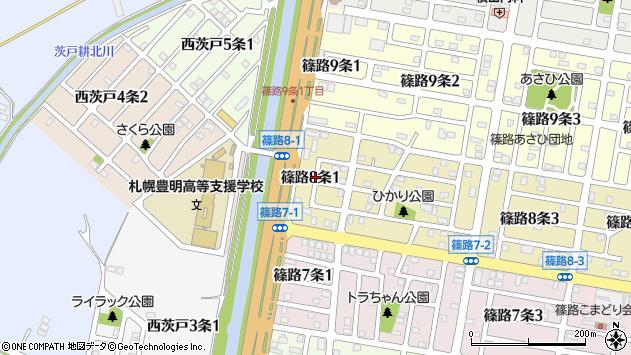 〒002-8028 北海道札幌市北区篠路八条の地図