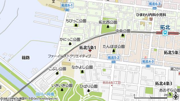 〒002-8065 北海道札幌市北区拓北五条の地図