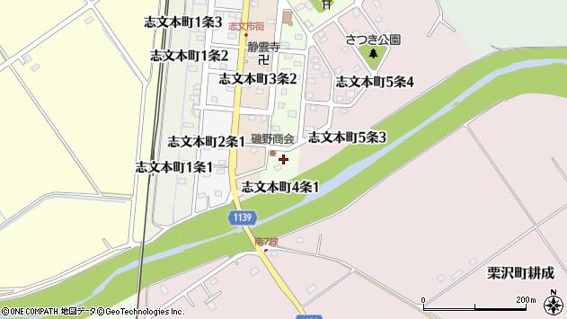〒068-0844 北海道岩見沢市志文本町四条の地図