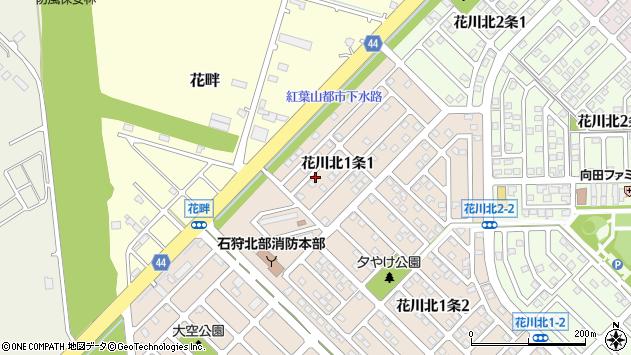 〒061-3211 北海道石狩市花川北一条の地図