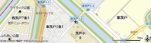 東茨戸1‐2周辺の地図