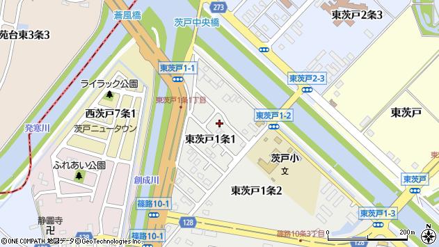 〒002-8041 北海道札幌市北区東茨戸一条の地図