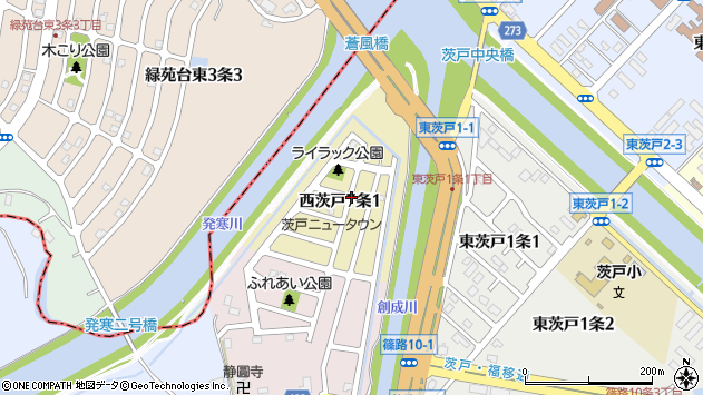 〒002-8037 北海道札幌市北区西茨戸七条の地図