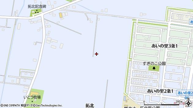 〒002-8054 北海道札幌市北区篠路町拓北の地図