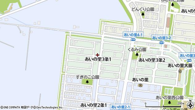 〒002-8073 北海道札幌市北区あいの里三条の地図