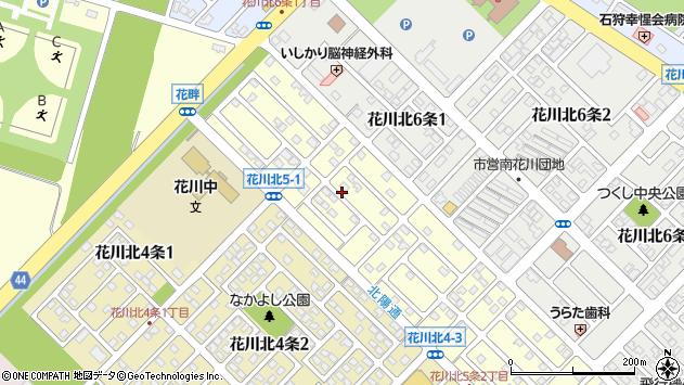 〒061-3215 北海道石狩市花川北五条の地図