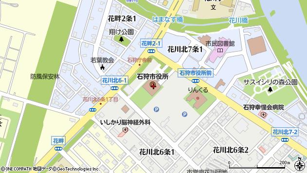 〒061-3200 北海道石狩市(以下に掲載がない場合)の地図