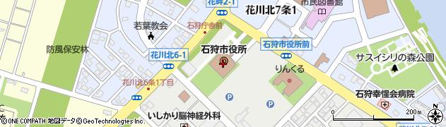 北海道石狩市周辺の地図