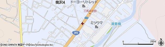 北海道小樽市奥沢周辺の地図
