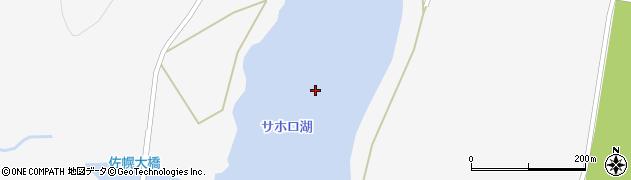 サホロ湖周辺の地図