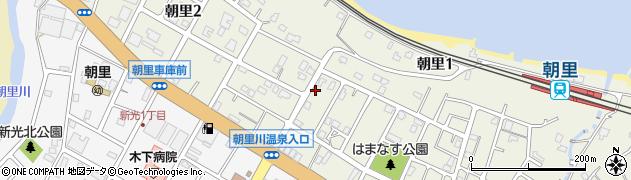 北海道小樽市朝里周辺の地図