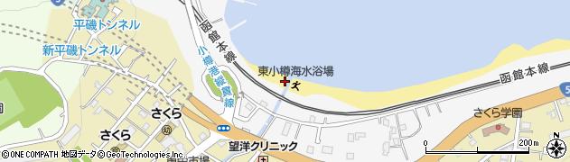 北海道小樽市船浜町周辺の地図