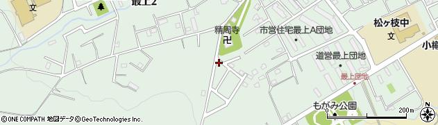 北海道小樽市最上周辺の地図