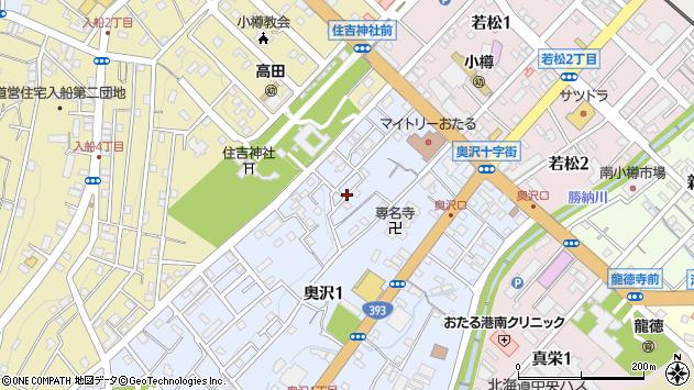 〒047-0013 北海道小樽市奥沢の地図
