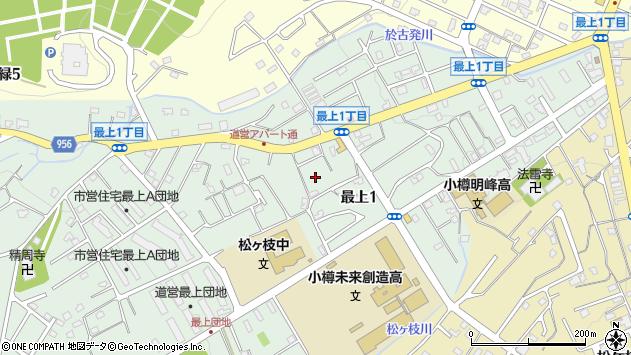 〒047-0023 北海道小樽市最上の地図